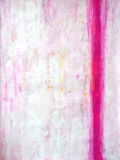 Pink and White Abstract Art Painting - 18 x 24