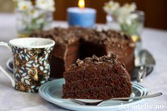 Cafe stings sjokoladekake (med ekstra mye sjokoladekrem)