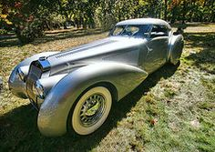 - 1938 Delage D8 - 120 Aerodynamic Coupe  by Allen Beatty
