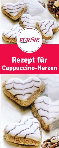 Cappuccino Hearts Recipe - Biscuits for Christmas - Weihnachtsbäckerei - Gateau Italian Cookie Recipes, Italian Cookies, Chocolate Navidad, Italian Pastries, Cappuccino Machine, Coffee Blog, Heart Cookies, Cookies Et Biscuits, Chocolate Recipes