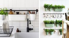 Barre ikea rangement mural cuisine Decoration Ikea, Ikea Inspiration, Diy Planters, Cool House Designs, Little Houses, Home Remodeling, Kitchen Remodel, Home Goods, Kitchen Decor