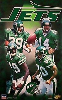 New York Jets Big Four - Starline 1997. I remember this poster. Been looking for the Cherbet jersey forever.