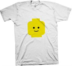 lego shirt! you could probably print it out onto transfer paper and make your own.