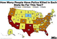 One Map Shows How Many People Police Have Killed in Each State So Far This Year