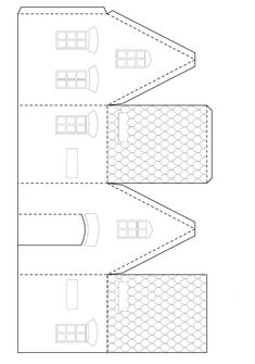 Looking for a Printable Template Gingerbread Elf Houses. We have Printable Template Gingerbread Elf Houses and the other about Printable Chart it free. Homemade Gingerbread House, Halloween Gingerbread House, Gingerbread House Patterns, Cool Gingerbread Houses, Gingerbread House Parties, Gingerbread Decorations, Christmas Paper, Christmas Crafts, Christmas Houses