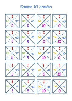 Samen 10 212x300 problemen met rekenen dyscalculie Number Games, Math Games, Math Activities, Math Class, Kindergarten Math, Teaching Math, Numicon, Job Info, School 2017