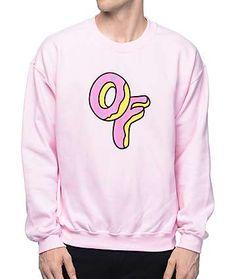 Odd Future OF Logo Light Pink Crewneck Sweatshirt