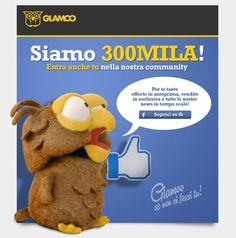 Glamoo, 300mila Like sulla Fan Page di Facebook