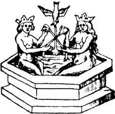 The alchemical rites of transformation into the conjunctio or sacred marriage with the dove overhead