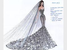 dress design for kim kardashian's wedding...holy cow would this be gorgeous!