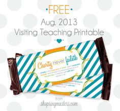 August 2013 Visiting Teaching Message FREE Printable