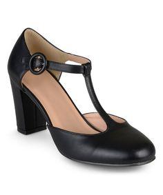 Look at this #zulilyfind! Black Talie T-Strap Pump #zulilyfinds