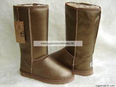 Metallic Tall Ugg Boots 5812 Gold