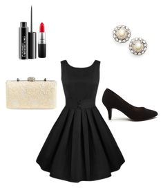 """Untitled  #1"" by shinyrebel on Polyvore featuring Jessica McClintock, Marchesa and MAC Cosmetics"