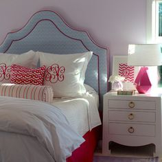 Girls Upholstered Headboards Design Ideas, Pictures, Remodel, and Decor