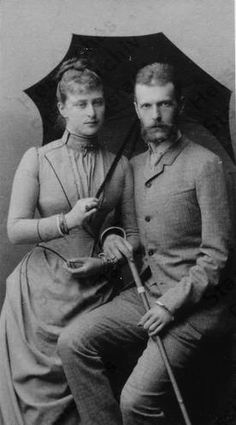 Their Imperial Highnesses Grand Duke Sergei Alexandrovich and Grand Duchess Elizaveta Feodorovna of Russia. Married: June 15, 1884
