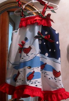 A-Lined  let it snow dress by janeylaughs on Etsy, $26.00