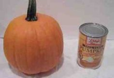 How to Cook Fresh Pumpkin--great tutorial with pictures.  Use it every year to cook up my Halloween pumpkins.