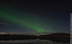 Aurora borealis on the South, looking at North