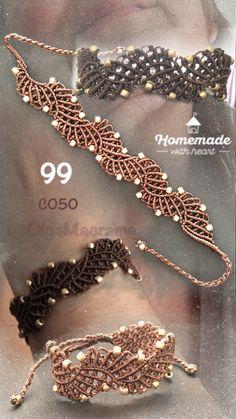 Macrame beaded bracelets