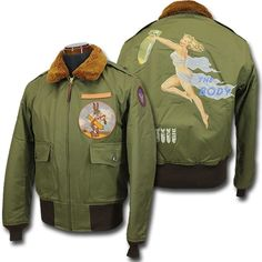 Look At These Men's Jackets. Find out some very nice mens fashion. With so much fashion for men to choose from currently, it can be a challenging experience. Nose Art, Militar Jacket, Military Fashion, Mens Fashion, Street Fashion, Military Art, Leather Flight Jacket, Leather Jackets, Types Of Jackets