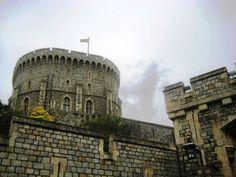Il magico Windsor Castle - The Round Tower. Sede di una delle residenze reali della monarchia britannica, è il più grande castello abitato del mondo. Windsor, nel Berkshire. England.