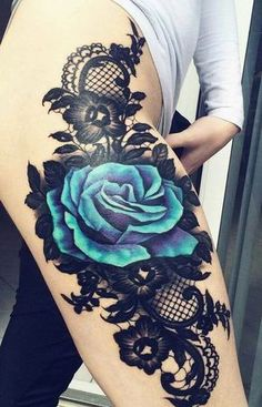 Love the lace detail... #HotTattoos
