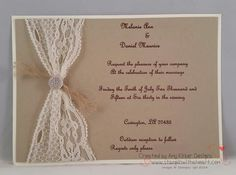 stampin up wedding invitations country - Google Search