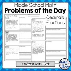 Three weeks of daily word problem warm-ups is included in this mini-set. Each problem has a space for work as well as for explaining how the problem was solved. The explanation can lead to great partner or class discussions! These pages came from a 9-week set of Number