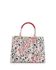 Medium+Debossed+Floral+Galleria+Tote+Bag+by+Prada+at+Neiman+Marcus.