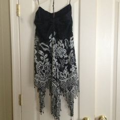 NWT Lane Bryant halter top New top; black and off white design with sequin to bust and beaded hem line Lane Bryant Tops