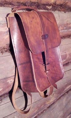 Leather Backpack.Messenger bag.Unisex backpack by OandDLeather on Etsy