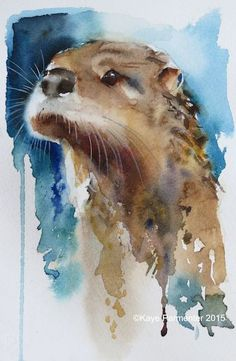 Artist Kaye Parmenter - Out of the blue_ws Watercolor Pictures, Watercolor Animals, Watercolor Print, Watercolor Paintings, Watercolours, Art And Illustration, Illustrations, Animal Paintings, Animal Drawings