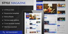 Download and review of Style-Magazine WordPress Theme, one of the best Themeforest Magazine & Blogs themes