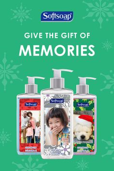 Design your Softsoap® bottles for your family and friends this holiday season!