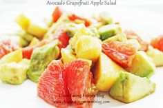 **Easy Healthy Recipe: Avocado Grapegruit Apple Salad** | Clean Eating Diet Plan Meal Plan and Recipes