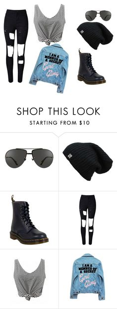 """""""Sin título #49"""" by belen-lillo ❤ liked on Polyvore featuring Linda Farrow, Dr. Martens and High Heels Suicide"""