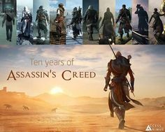 10 years of Assassins Creed The Assassin, Assassins Creed 2, Assassin Order, Video Game Art, Video Games, Assasins Cred, Overwatch, All Assassin's Creed, Sea Wallpaper
