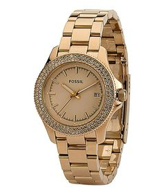 Love this Fossil Rose Gold Cecile Watch - Women by Fossil on #zulily! #zulilyfinds