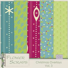 Christmas Overlays Vol.3 - $3.99 : Digital Scrapbooking Studio