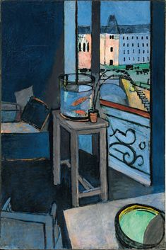 Henri Matisse (French, 1869–1954)  Interior with Goldfish, 1914  Oil on canvas; 57 7/8 x 38 3/16 in. (147 x 97 cm)  Centre Pompidou, Musée National d'Art Moderne, Paris, Bequest of Baronne Eva Gourgaud, 1965  © 2012 Succession H. Matisse / Artists Rights Society (ARS), New York