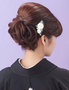 【留袖ヘア】若々しいカールアップ|夢館ビューティー || 京都 || 着物着付・ドレスヘアセット&メイク || 結婚式・およばれ・パーティに