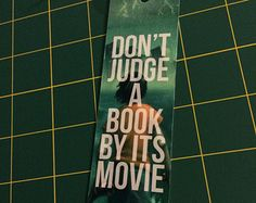"Percy Jackson bookmark ""Don't Judge A Book By Its Movie"""