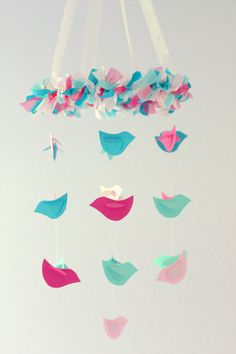 SMALL Bird Nursery Mobile