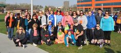 BlueCross BlueShield volunteering at the Walk MS: 2015 Omaha event at Stinson Park in Omaha, NE.  The event serves to raise awareness and funds for Multiple Sclerosis.