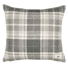 Mulholland Steel Check Cushion at Laura Ashley Checked Cushions, Scatter Cushions, Living Room Sofa, Home Living Room, Sofa Throw, Throw Pillows, Winter Bedding, Lounge Decor, Lounge Ideas
