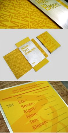 Wedding Invite - love the colors and textures and typography