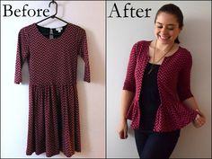 Dress to Cardi Refashion- Trish Stitched