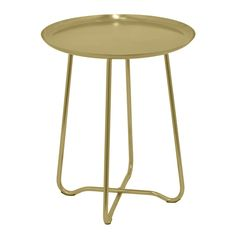 Three Hands Round Metal Accent Table