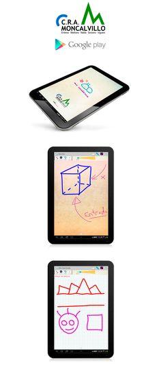 Mi Cuaderno - App by NETBRAIN  Aplicación Android para tabletas,  desarrollada junto con el CRA de Moncalvillo. (Colegio Rural Agrupado MONCALVILLO, Entrena, Medrano, Nalda, Sorzano y Viguera) en La Rioja.  Es un cuaderno para que los alumnos puedan gestionarlo, como si de un cuaderno tradicional fuera. Se puede dibujar, escribir textos, con múltiples hojas por cuaderno.  Esta desarrollada para las tabletas Android, con tamaño igual o superior a 7″